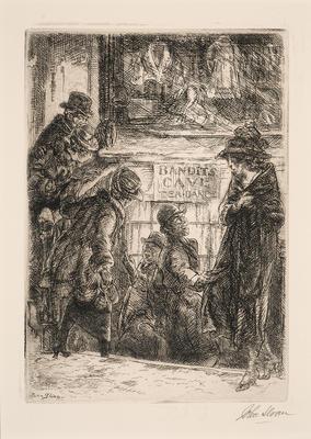 Bandit's Cave; John Sloan; American, 1871-1951; 2015.6