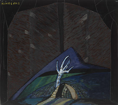 Scene design for King Lear; Rolph Scarlett; American, born Canada, 1889-1984; 2015.41.2