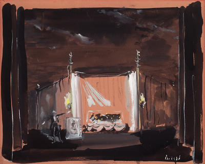 Scene design for La Belle Endormie (Sleeping Beauty) in Les Forains (The Strolling Players)