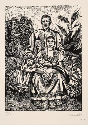 La Familia Yucateca (Yucatán Family); Fernando Castro Pacheco; Mexican, 1918-2013; 2015.83