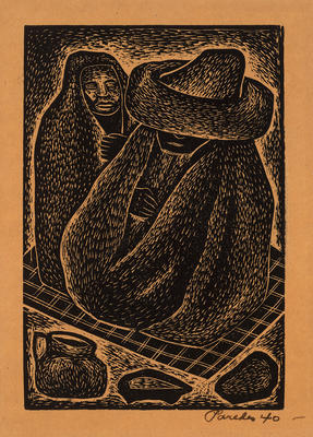 Campesinos (Farmers); Mariano Paredes; Mexican, 1912-1980; 2015.132