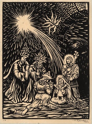 Natividad (Nativity Scene); Desiderio Hernández Xochitiotzin; Mexican, 1922-2007; 2015.101