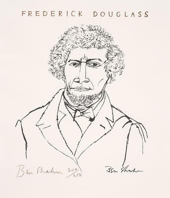 Frederick Douglass I; Ben Shahn; American, born Russia (now Lithuania), 1898-1969; 2017.2.1