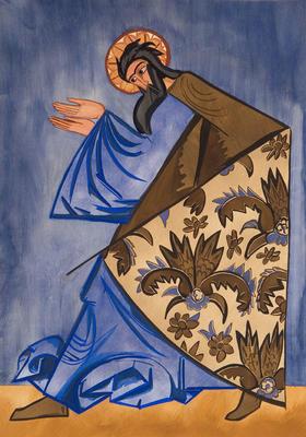 Costume design for Apostle Luke in Liturgie