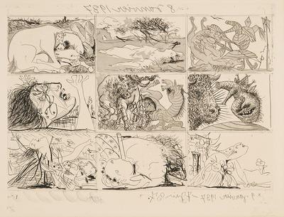 Sueño y Mentira de Franco; Pablo Picasso; Spanish, 1881-1973; 1974.42.2