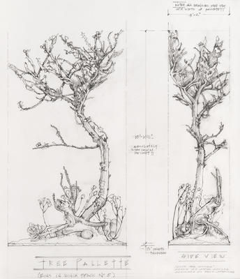 Design for Mother's Tree in Into the Woods; Tony Straiges; American, born 1942; 2017.243