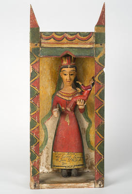 Nuestra Señora del Carmen (Our Lady of Mount Carmel); José Benito Ortega; New Mexican, 1858-1941; 1950.255