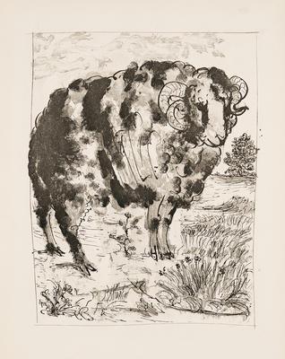 Le Belier (Ram) from Eaux-Fortes Originales Pour Textes de Buffon; Pablo Picasso; Spanish, 1881-1973; Georges L.L. de Buffon; French, 1707-1788; 1977.19.5