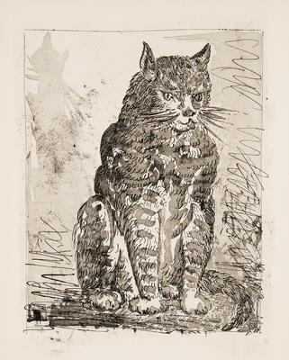 Le Chat (The Cat) from Eaux-Fortes Originales pour Textes de Buffon; Pablo Picasso; Spanish, 1881-1973; Georges L.L. de Buffon; French, 1707-1788; 1977.19.6