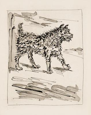 Le Chien (The Dog) from Eaux-Fortes Originales pour Textes de Buffon; Pablo Picasso; Spanish, 1881-1973; Georges L.L. de Buffon; French, 1707-1788; 1977.19.7