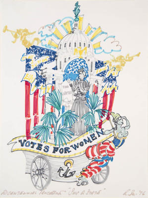 Design for Ship of State - Votes for Women - Bicentennial Procession in The Mother of Us All
