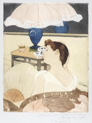 The Lamp; Mary Cassatt; American, 1844-1926; 1978.24