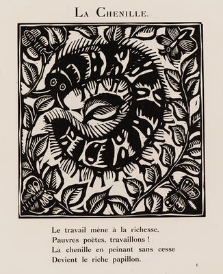 La Chenille (Caterpillar) from Le Bestiaire ou Cortège d'Orphée