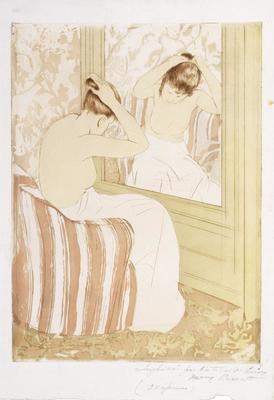 The Coiffure; Mary Cassatt; American, 1844-1926; 1980.40