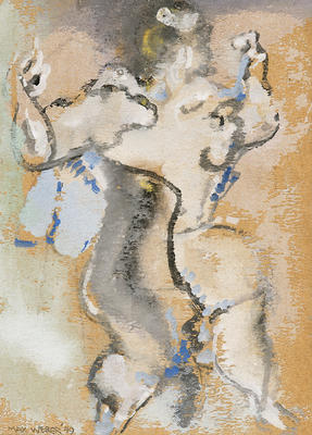 Dancing Figure; Max Weber; American, born Russia (now Poland), 1881-1961; 1980.48