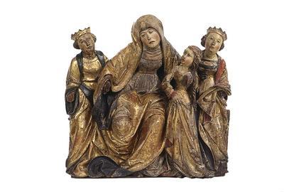 Saint Anne, the Virgin, and Two Attendant Saints