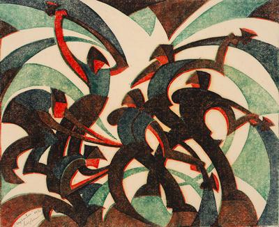Artist: Sybil Andrews, Canadian, born England, 1898-1993