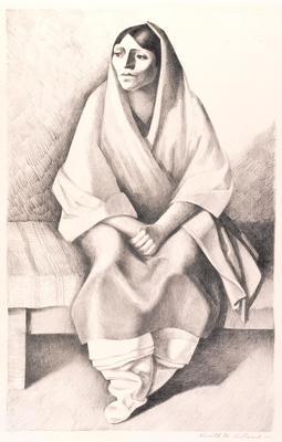 Woman of Taos; Kenneth Miller Adams; American, 1897-1966; 1950.513