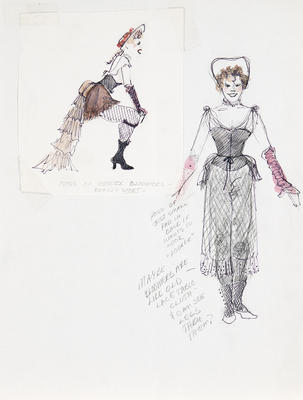 Costume designs for girls in bloomers in Sunday in the Park with George; Ann Hould-Ward; American, born 1954; TL1999.87.3