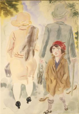 Street in Paris; George Grosz; American, born Germany, 1893-1959; 1950.58