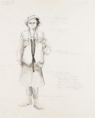 Costume design for Louise in Sunday in the Park with George; Ann Hould-Ward; American, born 1954; TL1999.87.4