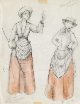 Costume design for Celeste in Sunday in the Park with George; Ann Hould-Ward; American, born 1954; TL1999.87.5