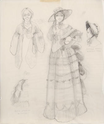 Costume design for Mrs. in Sunday in the Park with George; Ann Hould-Ward; American, born 1954; TL1999.87.8