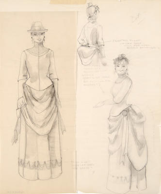 Costume designs for Dot in Sunday in the Park with George; Ann Hould-Ward; American, born 1954; TL1999.87.9