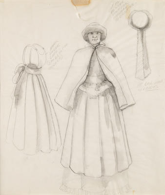 Costume design for Nurse in Sunday in the Park with George