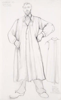 Costume design for George in Sunday in the Park with George