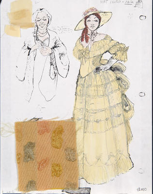Costume design for Mrs. in Sunday in the Park with George