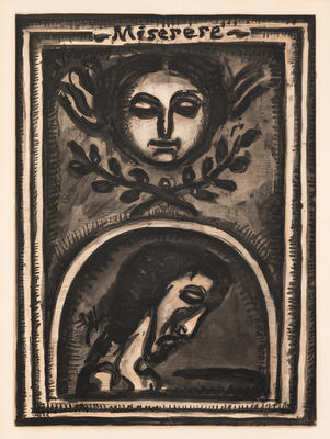 Miserere Mei Deus... (Have mercy on me, God...), plate 1 from Miserere