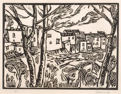 Houses in Martigues; Maurice de Vlaminck; French, 1876-1958; 1994.182