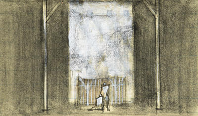 Scene design for Faust; Ming Cho Lee; American, born China, 1930-2020; TL1999.157.2