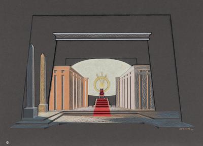 Scene design for the Temple of the Sun, finale, in The Magic Flute