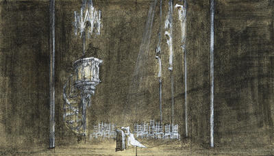 Scene design for Faust; Ming Cho Lee; American, born China, 1930-2020; TL1999.157.4