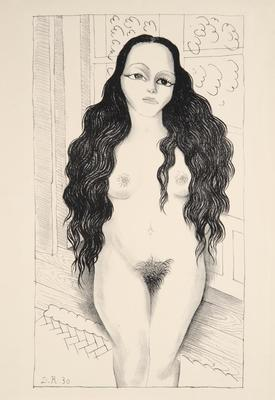 Nude with Long Hair (Dolores Olmedo); Diego Rivera; Mexican, 1886-1957; 2000.56