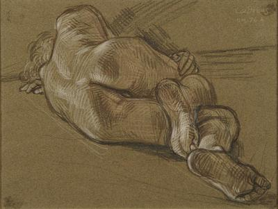 Male Nude, NM76A; Paul Cadmus; American, 1904-1999; 2000.71