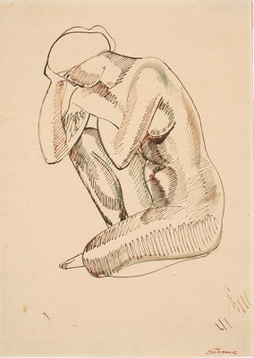 Seated Nude; Maurice Sterne; American, born Latvia, 1878-1957; 2001.12