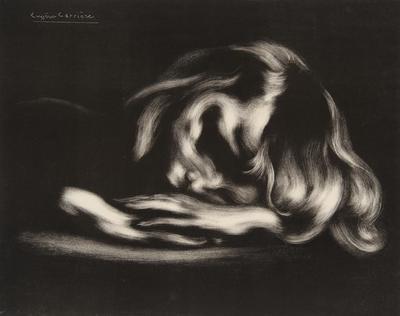 Le Sommeil (Sleep); Eugène Carrière; French, 1849-1906; 2002.6