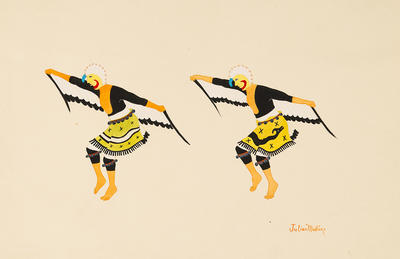Artist: Julian Martinez, Native American, San Ildefonso Pueblo, 1885-1943