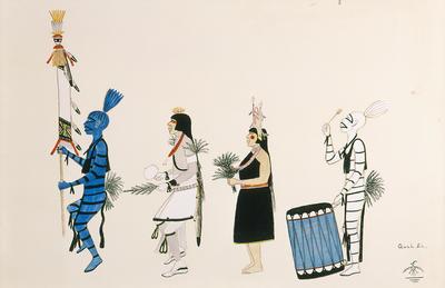 Artist: Tonita Peña, New Mexican, San Ildefonso Pueblo, 1893-1949