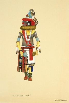 Artist: Otis Polelonema, Native American, Hopi, 1902-1972