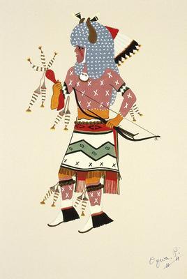 Artist: Oqwa Pi, Native American, San Ildefonso Pueblo, 1899-1971