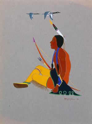 Artist: Stephen Mopope, Native American, Kiowa, 1898-1974