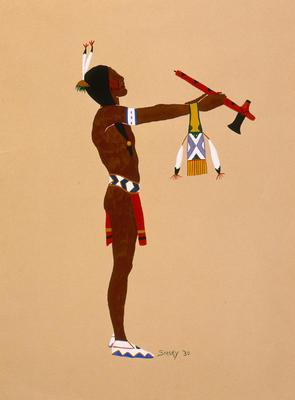 Artist: Lois Bougetah Smoky, Native American, Kiowa, 1907-1981