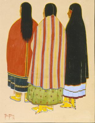 Artist: Monroe Tsatoke, Native American, Kiowa 1904-1937
