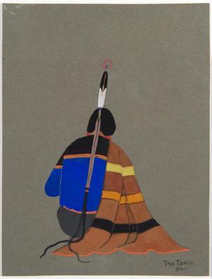 A Comanche; Monroe Tsatoke; Native American, Kiowa 1904-1937; 1950.741