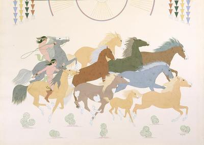 Artist: Harrison Begay, Native American, Navajo, 1917-2012