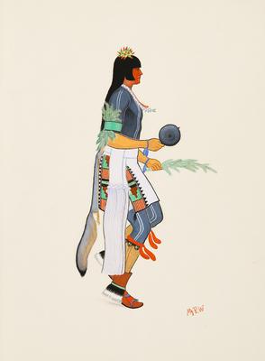 Artist: Velino Shije Herrera, Native American, Zia Pueblo, 1920-1973